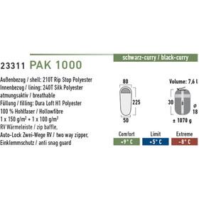 High Peak Pak 1000 Makuupussi vasen, black/curry
